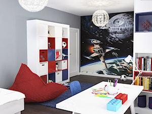 Projekt wnętrz domu - Średni szary kolorowy pokój dziecka dla chłopca dla malucha, styl nowoczesny - zdjęcie od ARCHISSIMA
