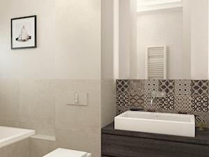 Projekt wnętrz mieszkania - Średnia beżowa łazienka, styl nowoczesny - zdjęcie od ARCHISSIMA