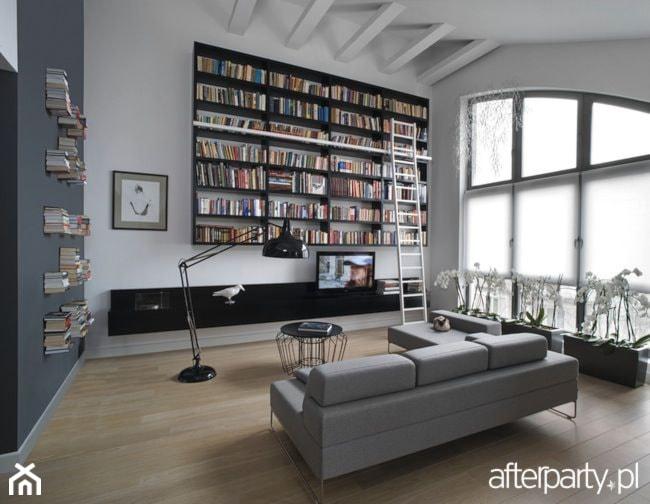 Nowoczesna biblioteczka salon styl nowoczesny zdj cie for Biblioteczka w salonie