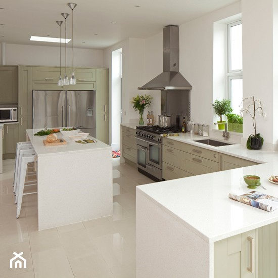 Sage Green Kitchen With White Cabinets: Kuchnia, Styl Skandynawski