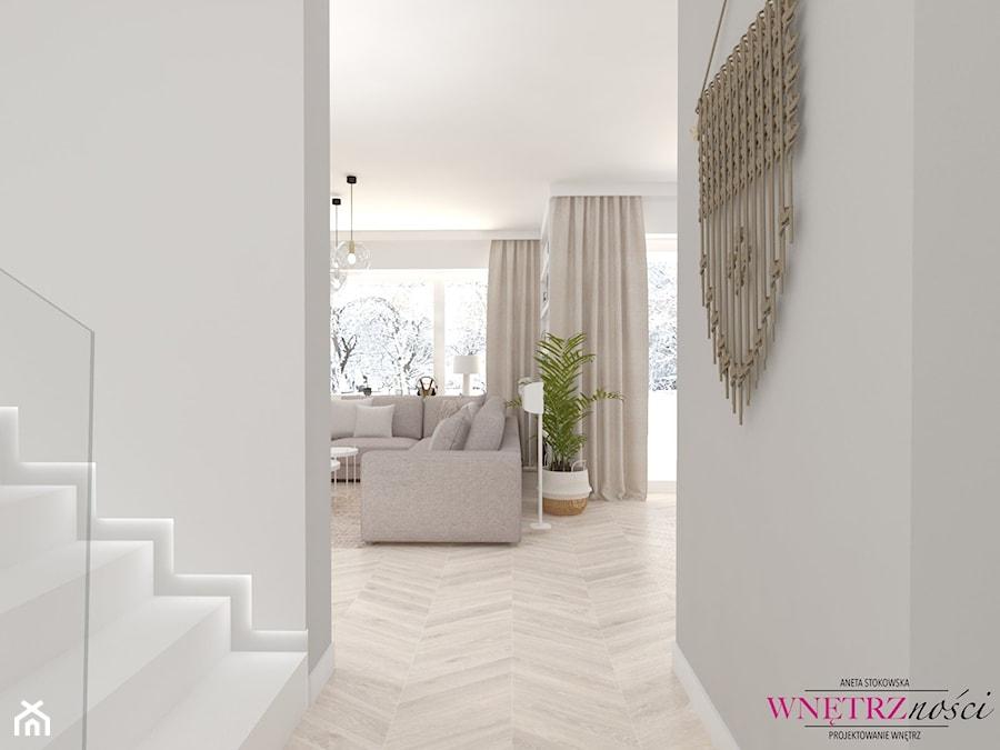Dom w Orliczkach - Hol / przedpokój, styl nowoczesny - zdjęcie od WNĘTRZNOŚCI Projektowanie wnętrz Aneta Stokowska