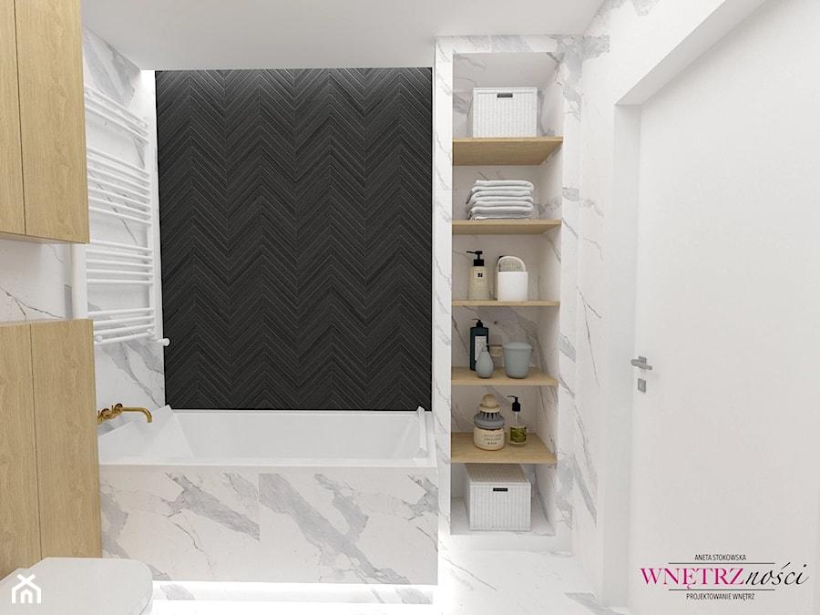SEGMENT PRUSZKÓW - Łazienka, styl nowoczesny - zdjęcie od WNĘTRZNOŚCI Projektowanie wnętrz Aneta Stokowska