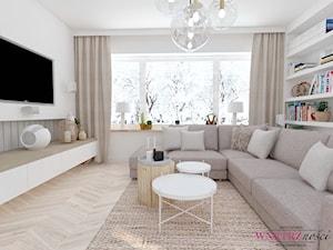 Dom w Orliczkach - Salon, styl nowoczesny - zdjęcie od WNĘTRZNOŚCI Projektowanie wnętrz Aneta Stokowska