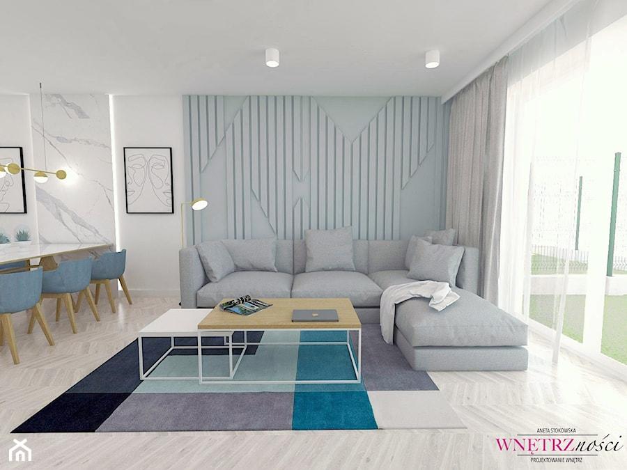 SEGMENT PRUSZKÓW - Salon, styl nowoczesny - zdjęcie od WNĘTRZNOŚCI Projektowanie wnętrz Aneta Stokowska