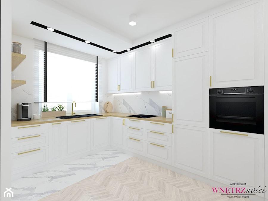 SEGMENT PRUSZKÓW - Kuchnia, styl glamour - zdjęcie od WNĘTRZNOŚCI Projektowanie wnętrz Aneta Stokowska