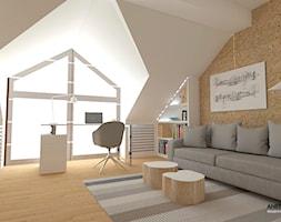 Pokój Nastolatka - Średni biały brązowy pokój dziecka dla chłopca dla ucznia dla nastolatka, styl nowoczesny - zdjęcie od WNĘTRZNOŚCI Projektowanie wnętrz i mebli Aneta Stokowska