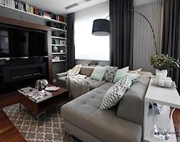 ŻOLIBORZ ARTYSTYCZNY mieszkanie 80m2 - Mały kolorowy salon, styl nowoczesny - zdjęcie od WNĘTRZNOŚCI Projektowanie wnętrz i mebli Aneta Stokowska
