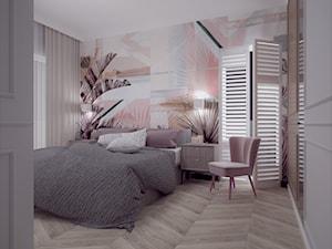 87 - Średnia różowa sypialnia małżeńska, styl eklektyczny - zdjęcie od MADA design