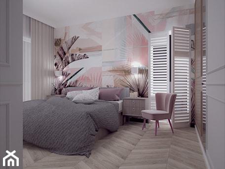 Aranżacje wnętrz - Sypialnia: 87 - Średnia różowa sypialnia małżeńska, styl eklektyczny - MADA design. Przeglądaj, dodawaj i zapisuj najlepsze zdjęcia, pomysły i inspiracje designerskie. W bazie mamy już prawie milion fotografii!
