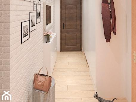 Aranżacje wnętrz - Hol / Przedpokój: Mieszkanie Łódź - Mały biały hol / przedpokój, styl rustykalny - APkwadrat. Przeglądaj, dodawaj i zapisuj najlepsze zdjęcia, pomysły i inspiracje designerskie. W bazie mamy już prawie milion fotografii!
