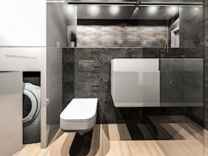 Łazienka Loft - Średnia łazienka w bloku w domu jednorodzinnym bez okna, styl nowoczesny - zdjęcie od APkwadrat