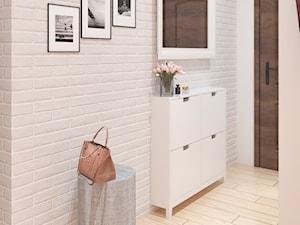 Mieszkanie Łódź - Mały beżowy hol / przedpokój, styl rustykalny - zdjęcie od APkwadrat