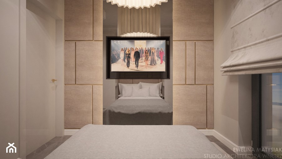 Perch Light - Mała szara sypialnia małżeńska - zdjęcie od Ewelina Matysiak