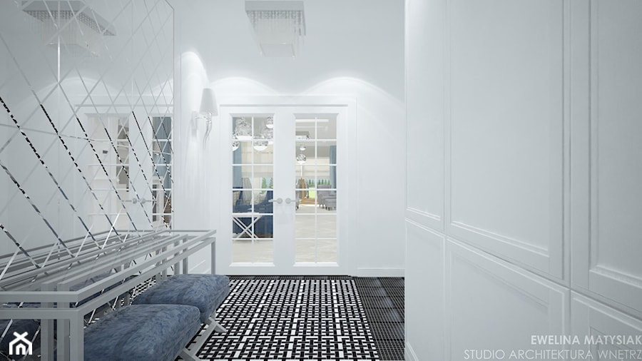 Clever Elegance - Średni biały hol / przedpokój, styl glamour - zdjęcie od Ewelina Matysiak