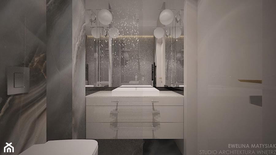 Perch Light - Mała biała szara łazienka bez okna - zdjęcie od Ewelina Matysiak