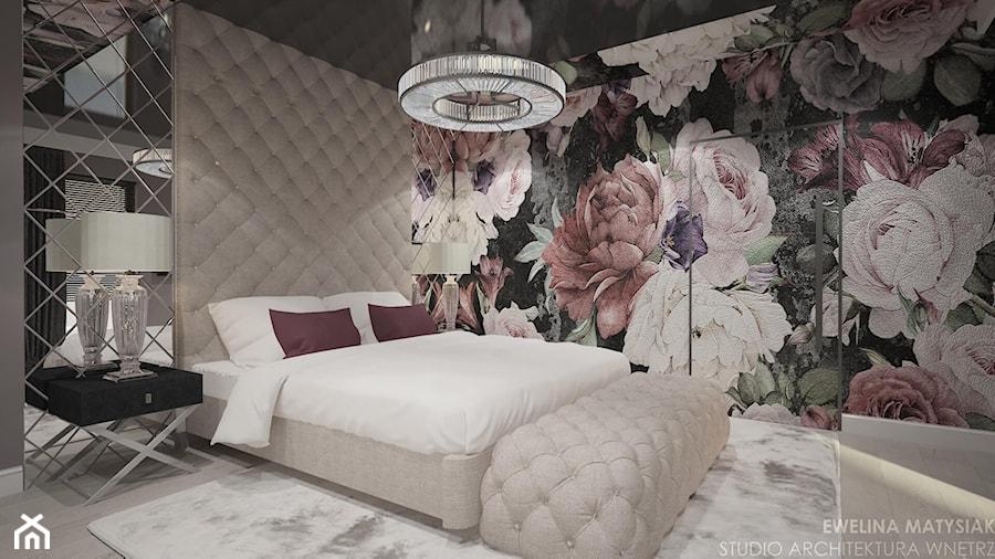 Clever Elegance - Duża sypialnia małżeńska, styl glamour - zdjęcie od Ewelina Matysiak