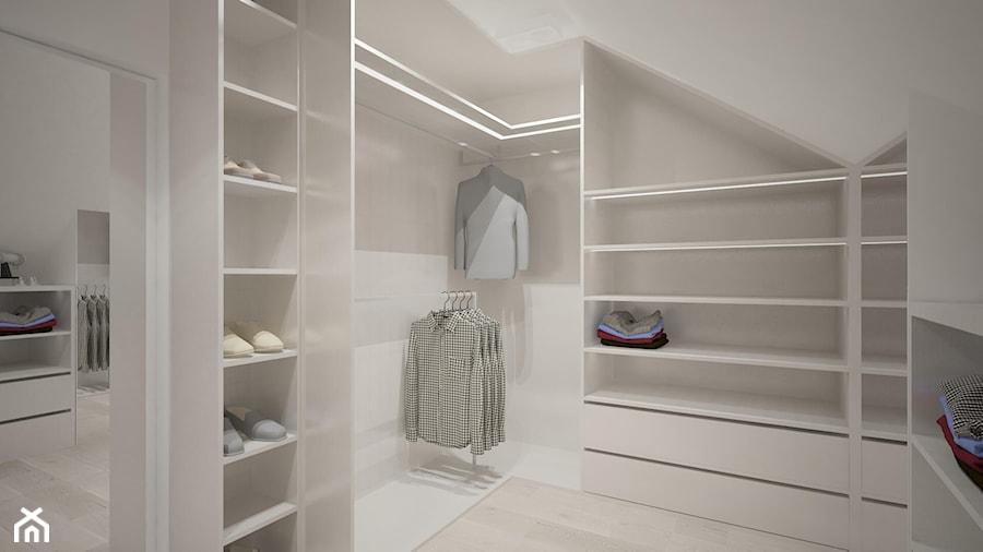 Clever Elegance - Duża zamknięta garderoba na poddaszu, styl nowoczesny - zdjęcie od Ewelina Matysiak