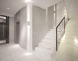 MARMUR BIEL I SZAROŚCI - Szerokie schody zabiegowe kamienne, styl nowoczesny - zdjęcie od Ewelina Matysiak
