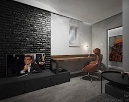 Yosemite - Średnie szare biuro domowe kącik do pracy, styl nowoczesny - zdjęcie od Ewelina Matysiak