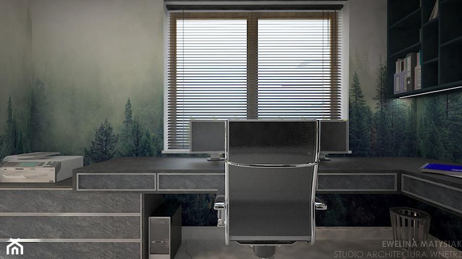 Clever Elegance - Małe biuro kącik do pracy, styl nowoczesny - zdjęcie od Ewelina Matysiak