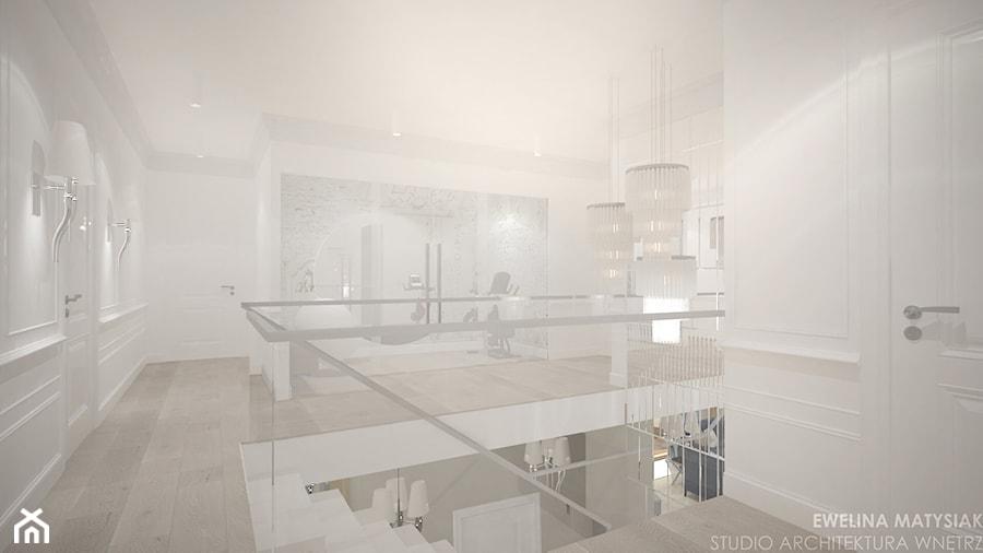Clever Elegance - Duży biały hol / przedpokój, styl glamour - zdjęcie od Ewelina Matysiak