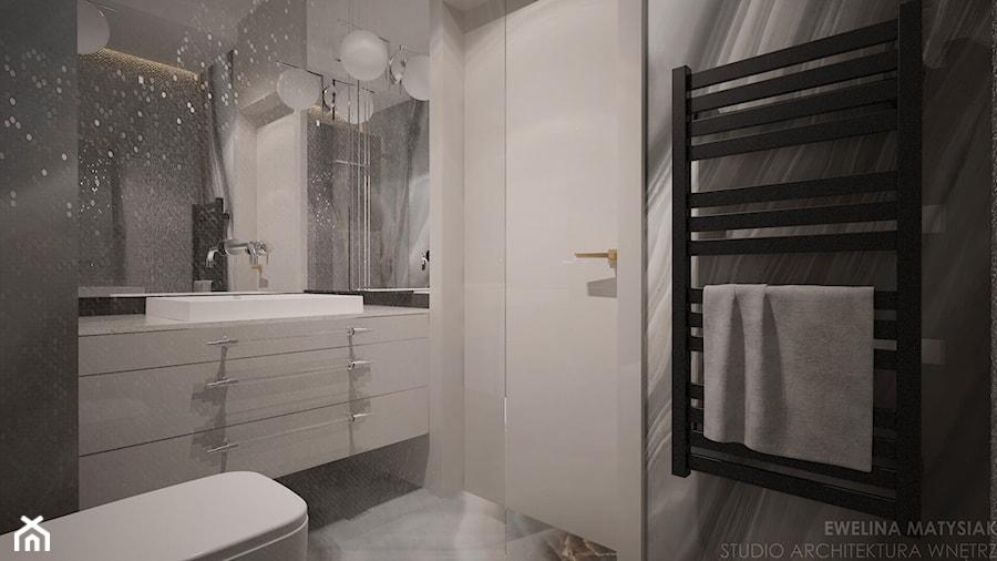 Perch Light - Mała czarna szara łazienka bez okna - zdjęcie od Ewelina Matysiak