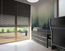 Clever Elegance - Średnie szare biuro domowe kącik do pracy, styl nowoczesny - zdjęcie od Ewelina Matysiak