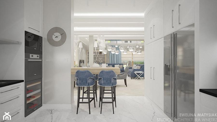 Clever Elegance - Średnia otwarta szara kuchnia dwurzędowa, styl glamour - zdjęcie od Ewelina Matysiak