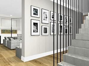 Dom 200m2.... naturalnie - Średni szary hol / przedpokój, styl tradycyjny - zdjęcie od Interno