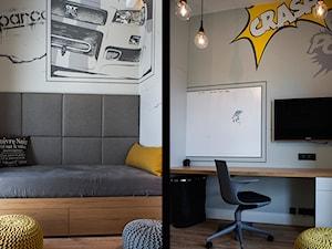 Atrium Park 110m2 - Średni biały szary pokój dziecka dla chłopca dla ucznia dla nastolatka, styl nowoczesny - zdjęcie od Interno