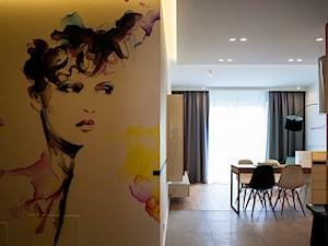 Atrium Park - mieszkanie pokazowe - Średni beżowy kolorowy hol / przedpokój, styl nowoczesny - zdjęcie od Interno