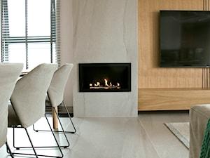 Apartament w pastelach - Mały szary salon, styl nowoczesny - zdjęcie od Interno
