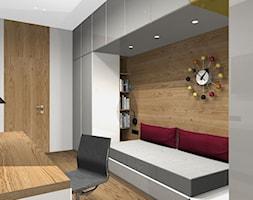 Atrium Park 110m2 - Średnie szare biuro kącik do pracy w pokoju - zdjęcie od Interno