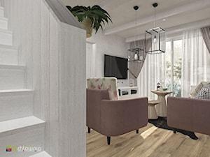 """MAGIA VINTAGE - Średni szary salon, styl vintage - zdjęcie od Studio Architektury Wnętrz """"rychtownia"""""""