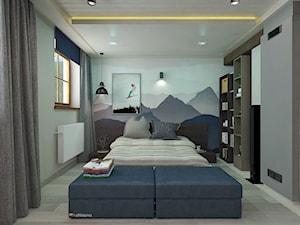 """AZYL 18-latka - Mały szary kolorowy pokój dziecka dla chłopca dla dziewczynki dla nastolatka, styl nowoczesny - zdjęcie od Studio Architektury Wnętrz """"rychtownia"""""""