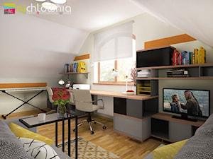 """* pokój do pracy na poddaszu * - zdjęcie od Studio Architektury Wnętrz """"rychtownia"""""""