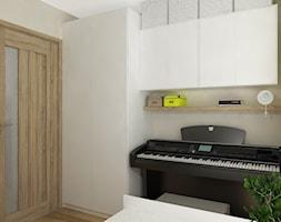 """PASTELOWO - SŁONECZNE TARASY - Mały szary pokój dziecka dla chłopca dla dziewczynki dla malucha dla nastolatka, styl eklektyczny - zdjęcie od Studio Architektury Wnętrz """"rychtownia"""""""