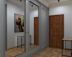 """szafa z drzwiami przesuwnymi w garderobie - zdjęcie od Studio Architektury Wnętrz """"rychtownia"""""""