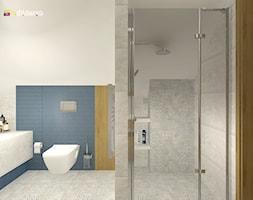"""DOM NA ŚLĄSKU CIESZYŃSKIM - Średnia biała łazienka na poddaszu w bloku w domu jednorodzinnym, styl nowoczesny - zdjęcie od Studio Architektury Wnętrz """"rychtownia"""""""