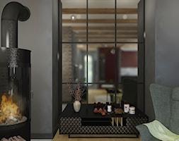 """WEEKENDOWE PODDASZE PRZY UL. SOBIESKIEGO - Mały czarny salon, styl włoski - zdjęcie od Studio Architektury Wnętrz """"rychtownia"""""""