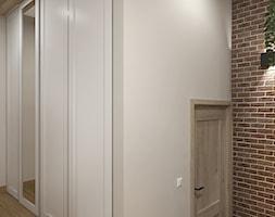 """RETRO - Bujaków - Średni beżowy hol / przedpokój, styl rustykalny - zdjęcie od Studio Architektury Wnętrz """"rychtownia"""""""
