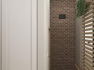 """RETRO - Bujaków - Mały szary hol / przedpokój, styl rustykalny - zdjęcie od Studio Architektury Wnętrz """"rychtownia"""""""