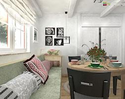 """MAGIA VINTAGE - Mała biała jadalnia w salonie, styl vintage - zdjęcie od Studio Architektury Wnętrz """"rychtownia"""""""