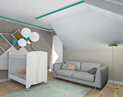projekt domu w Sidzinie - Średni biały szary pokój dziecka dla chłopca dla dziewczynki dla niemowlaka, styl skandynawski - zdjęcie od Creative Interior