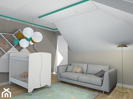 Aranżacje wnętrz - Pokój dziecka: projekt domu w Sidzinie - Średni biały szary pokój dziecka dla chłopca dla dziewczynki dla niemowlaka, styl skandynawski - Creative Interior. Przeglądaj, dodawaj i zapisuj najlepsze zdjęcia, pomysły i inspiracje designerskie. W bazie mamy już prawie milion fotografii!