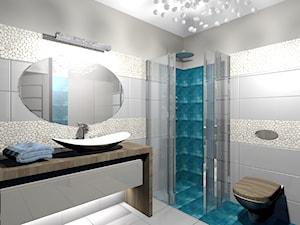 apartament sucha beskidzka - Mała szara łazienka na poddaszu w bloku w domu jednorodzinnym bez okna, styl nowoczesny - zdjęcie od Creative Interior