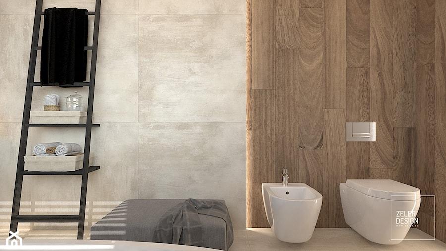Przestronna - jasna łazienka z oknem. - zdjęcie od ZELER-DESIGN