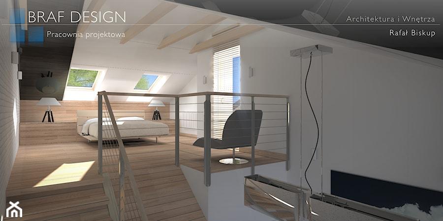 Nowoczesna sypialnia na poddaszu - zdjęcie od BRAF Design