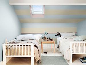 Paleta kolorów roku - Mały szary beżowy pokój dziecka dla chłopca dla dziewczynki dla rodzeństwa dla malucha dla nastolatka, styl minimalistyczny - zdjęcie od Dulux