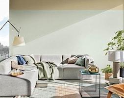 Kolor Roku 2020 - Średni niebieski pomarańczowy salon, styl skandynawski - zdjęcie od Dulux - Homebook